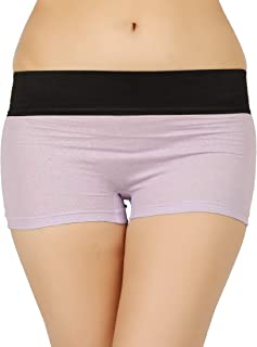 VAISHMA Women's Plain/Solid Boy Shorts (VA-DBoyshorts-20-PU_Purple_X-Large)