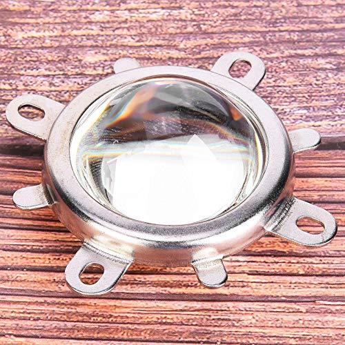 Jeanoko Reflektorbasis Optische Glaslinsen-Kits Feste Halterung Galvanisieren 1 Set Licht für 20-100W LED-Licht(Beam Angle 60°)