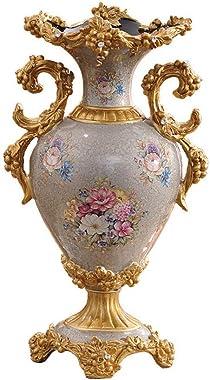 AOOROBE Vase Retro Résine,Style Européen Vase De Fleur pour Salon Salle Manger Table Décoration Bureaux Barre Décor Maison Pe