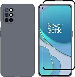 MARGOUN Special 2 Pack for OnePlus 8T Case Cover and Screen Protector 3D Tempered Glass 6.55 inches (Grey Blue)
