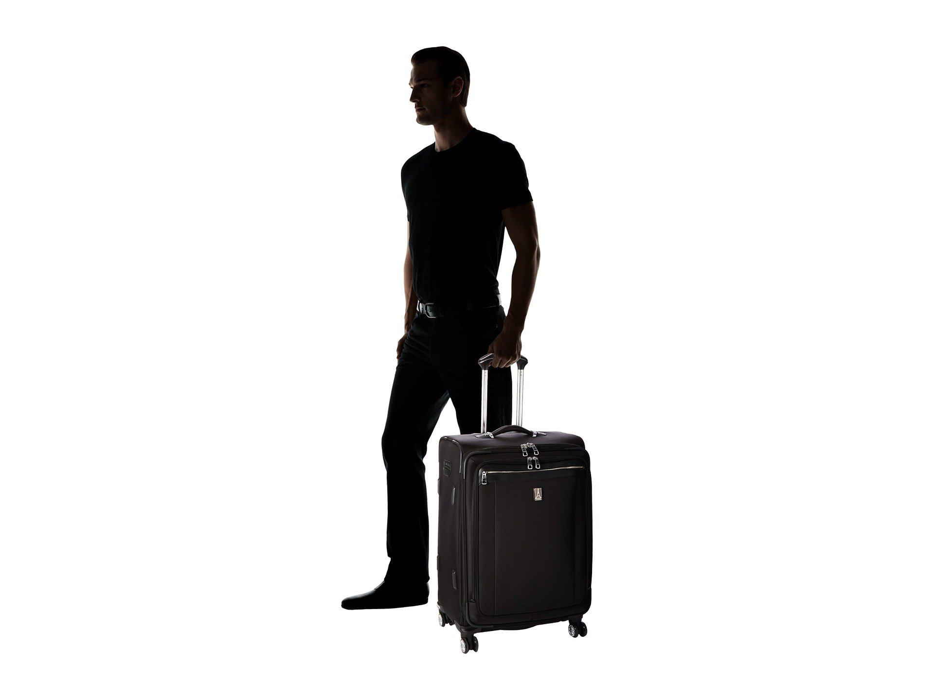 Suiter Travelpro Black Expandable Spinner 25