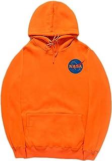 bc3ae2b227d CORIRESHA Fashion NASA Logo Print Hoodie Sweatshirt with Kangaroo Pocket