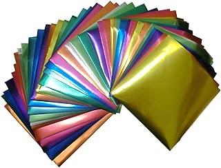 Foil Color Origami Folding Paper 90 Sheets Set Metallic Color
