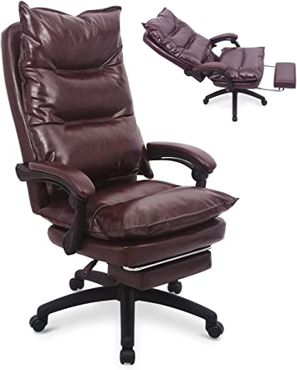 B07MW9P2CH✅Ergonomic PU Leather Executive Office Chair Desk Task Computer Chair Swivel High Back Chair