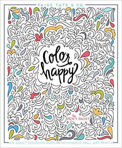 Color Happy: An Adult Coloring Book of Removable Wall Art Prints (Inspirational Coloring, Journaling and Creative Lettering) [並行輸入品]