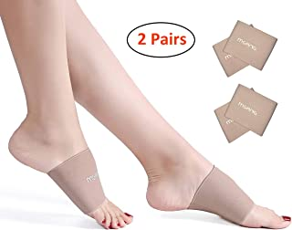 MGANG Compression Arch Sleeves, Best Plantar Fasciitis Sleeves for Men & Women, Arch Support Brace for Plantar Fasciitis, Pain Relief, Heel Spurs, Foot Pain, Flat Arches, Daily Wear, 2 Pairs Beige M