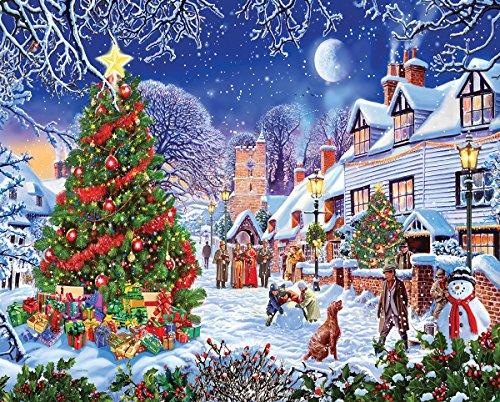 White Mountain Puzzles Village Christmas Tree - 1000 Piece Jigsaw Puzzle