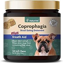 NaturVet Coprofagia Taburete Comer Disuasión Plus Aliento Ayuda para Perros, 130CT Dental para Suave, Fabricado en Estados Unidos