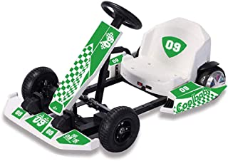 COOLBABY Crazy Drift Electric Scooter Go Cart Kating Car, Battery Powered 4 Wheel Racer For Kids, Adult Pedal Cars For Out...
