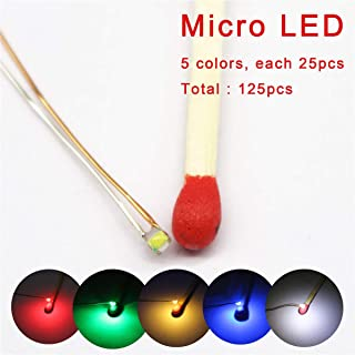 Bowerful 125pcs Pre-soldered Micro Litz Wired Leads Mix SMD Led 0603 + Muti-Resistor New