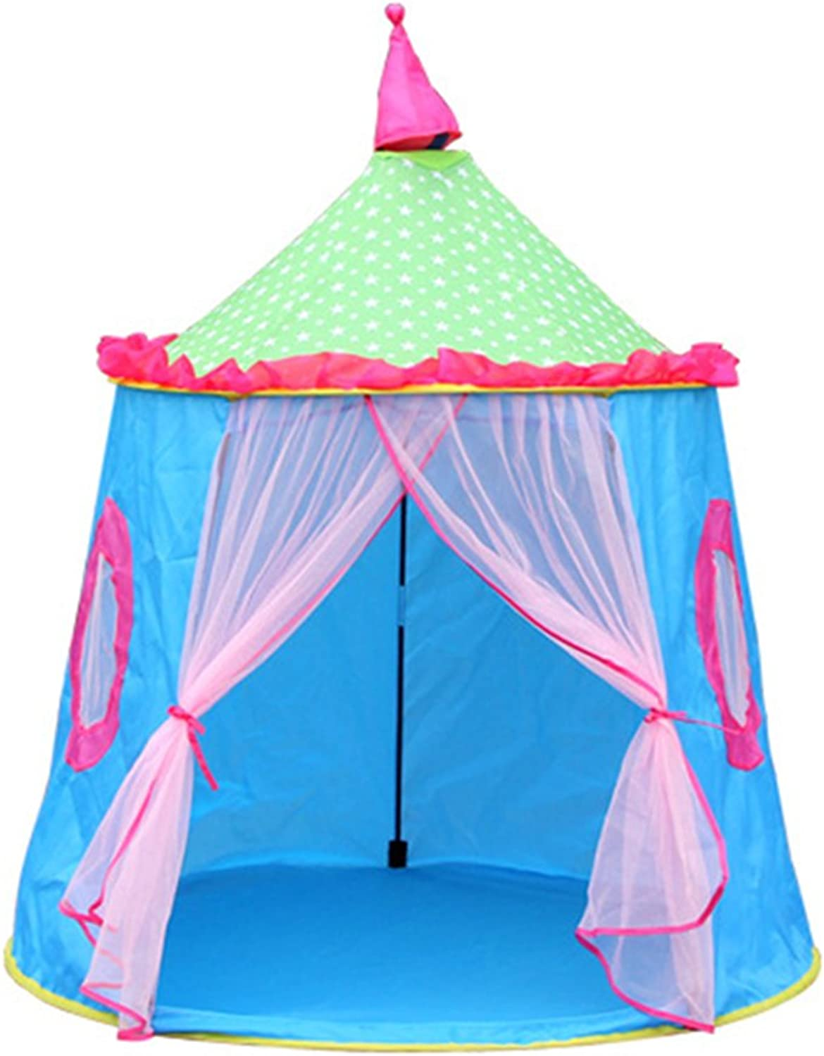 Zconmotarich Castle Foldable Kids Tent Ger Yurt Indoor Outdoor Playhouse Game House