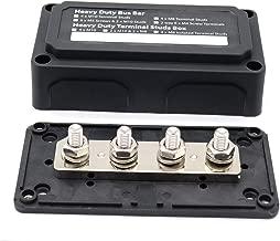 Anmas Heavy Duty Bus Bar 4 x M8 Terminal Studs Box Power Distribution Box Terminal Power Block Boating Fishing Battery Switches Busbars 12 v -48V 300 amp