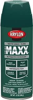 Krylon K09124000 COVERMAXX Spray Paint, Gloss Hunter Green, 12 Ounce