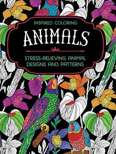 Adult Animal Coloring Book Relaxation and Stress Relieving Animal Designs and Patterns with product image