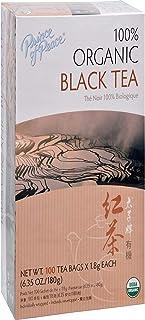 Prince of Peace Organic Black Tea, 100 Tea Bags – 100% Organic Black Tea – Unsweetened Black Tea – Lower Caffeine Alternat...