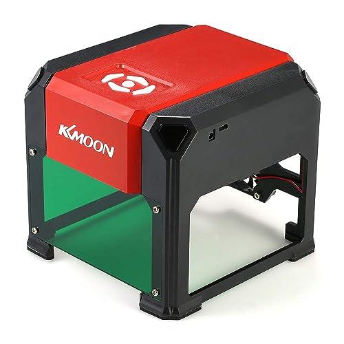 KKmoon 3000mW Mini Gravure Laser à Haute Vitesse, USB DIY Machine de Sculpture, Outils de Graveur avec 80 * 80mm Grande Zone de Gravure et Panneau pour Win XP/7/8/10