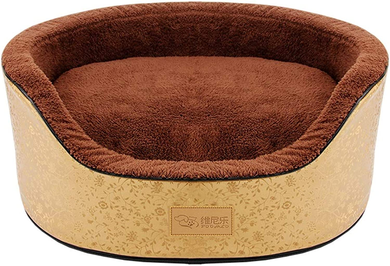 Hxyan Pet Bed Small Medium Dogs Can Be Removed and Washed Dog Bed Cat Bed Pet Pad Sponge Four Seasons Universal (Diameter  49cm)