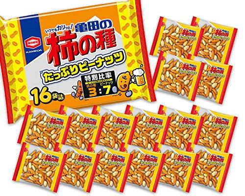 亀田製菓亀田の柿の種たっぷりピーナッツ16袋詰560g