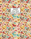 2022 One Year Weekly Planner: Cute Folk Art Primitive Style Chickens Cover   52 Weeks, Daily and Monthly Calendar Views with Notes   8x10 Work Home ... Lists and More! Great gift for Farm Friends!