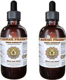 Reishi Liquid Extract - Tonic of Emperors, Organic Reishi Mushroom (Ganoderma Lucidum) Tincture, Herbal Supplement, Hawaii Pharm, Made in USA, 2x2 fl.oz
