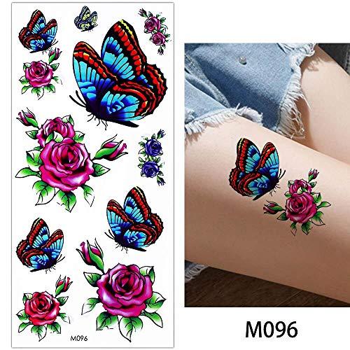 Zhuhuimin Rose 5 stuks body make-up tattoo kleurtekening vlinder armband ketting achterste been tattoo kunststicker