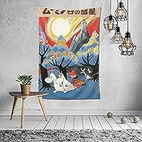 ムーミン タペストリー 壁掛け ポスター 背景布 壁飾り 家 リビングルーム ベッドルーム 部屋 おしゃれ 100*150cm