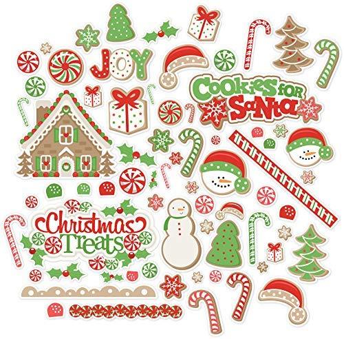 Paper Die Cuts - Christmas Treats - Over 60 Cardstock Scrapbook Die Cuts - by Miss Kate Cuttables