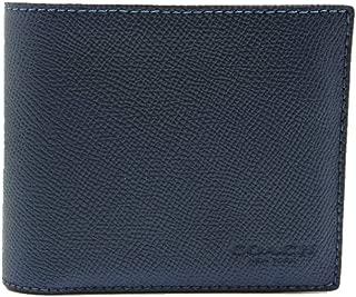 COACH Compact ID Passcase 3 in 1 Wallet in Crossgrain Leather in Dark Denim Blue 59112
