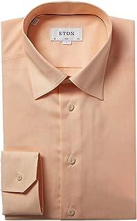 Mens Slim Fit Dress Shirt, 43, Orange