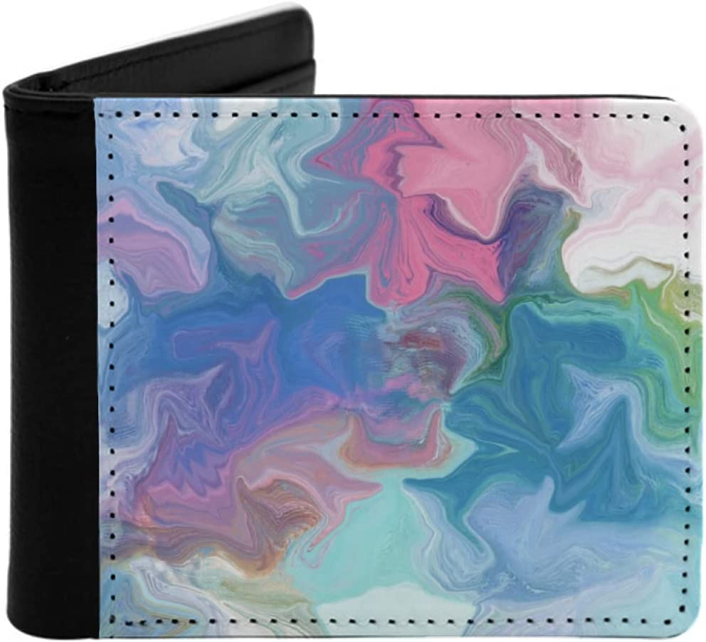 Mens Womens OFFicial shop Slim Wallet Ranking TOP17 colorful backg painting abstract digital