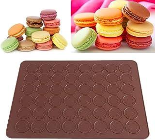 N\C 1 pièce de Tapis de Cuisson pour Macarons en Silicone 48 puits Enduit antiadhésif, Tapis de Cuisson pour Macarons en S...