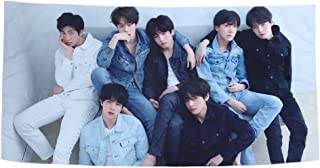 Youyouchard Kpop BTS Bangtan Boys Love Yourself [轉 Tear] [結 Answer] Beach Towels Cover Wall Hanging Tapestry Fashion Decoration Star Banner Shawl Home Decor Poster(H8 - Version R)
