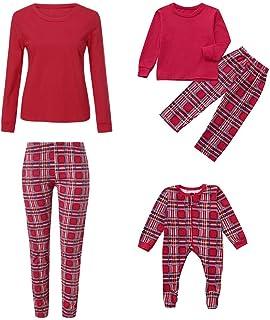 kingfansion Women Xmas Family Matching Christmas Pajamas PJs Sets Pjs Sleepwear Outfits