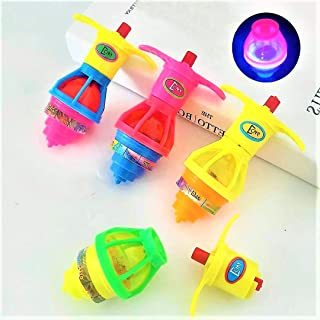 20Pack LED Light up Flashing UFO Spinning Tops with Gyroscope Novelty Bulk Toys Goodie Bag Fillers for Boys and Girls Best...