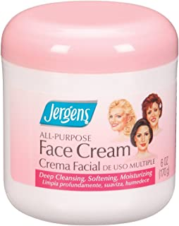 Jergens Face Cream All Purpose 6 Ounce Jar (177ml) (2 Pack)