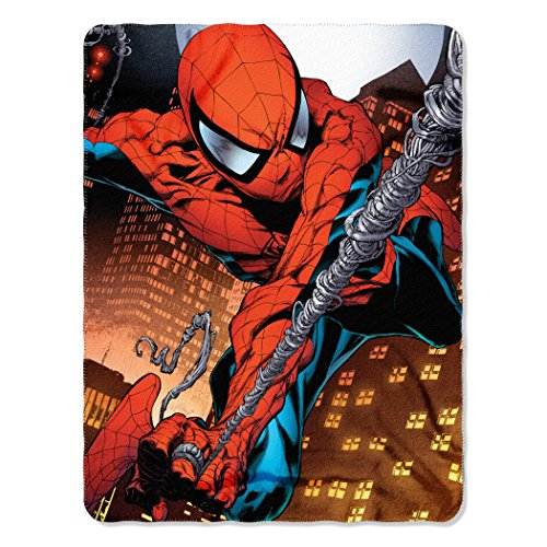Marvel Web Swing Fleece Throw Blanket Spider-Man, 45' x 60', Multi...