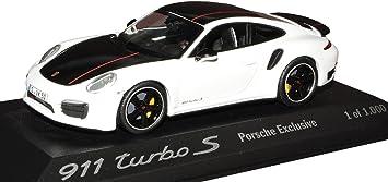 Minichamps Porsche 911 991 Turbo S Exclusive Coupe Weiss Schwarz Ab 2011 1 43 Modell Auto Mit Individiuellem Wunschkennzeichen Spielzeug