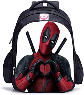 Mochila de Viaje Deadpool Anime Bolsa de Lona Bolso de Escuela Estudiante Casual Backpack para Portátil