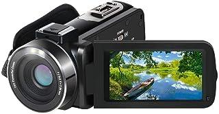 ビデオカメラ ACTITOP デジタルビデオカメラ HDR 48MP WIFI機能 16倍デジタルズーム IR夜視機能 予備バッテリーあり 3.0インチタッチモニター 外部マイク 超広角レンズ搭載 ビデオライト カメラバッグ 日本語システム (...