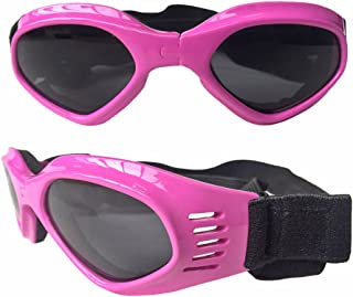 Cool Pet Dog Motorcycles Bike Sunglasses for Sun Rain Protection,Funny Halloween Cosplay Costume for Cats Dogs