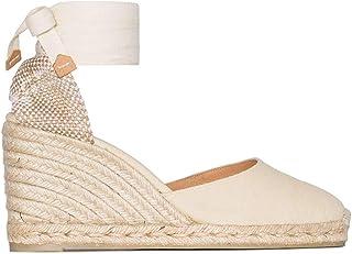 Luxury Fashion | Castaner Women CARINA8001203 Beige Cotton Wedges | Spring-summer 20