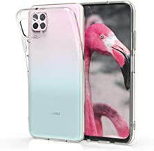 kwmobile Crystal Case Compatible with Huawei P40 Lite - Soft Flexible TPU Silicone Protective Cover - Transparent