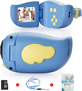 Themoemoe Kids Digital Camera for Girls Boys, Rechargeable HD Video Photo Camera for Kids Age 3-10, Kids Mini Camera Camco...