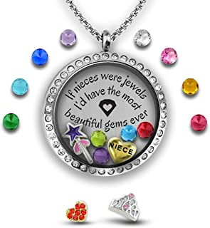 Charm Necklace Niece Gifts from Aunt 30 Mm Stainless Steel Floating Charm Locket
