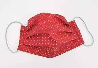 Mund- & Nasenmaske - Punkte Rot Weiß - Baumwollmaske