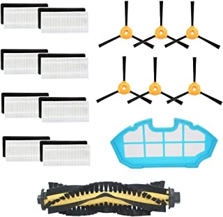 Replacement Parts Compatible DEEBOT N79S DEEBOT N79 Robotic Vacuums Accessories - 8 Filters+ 6 Side Brushes +1 Roller Brush+1 Primary Filter (Pack of 16)