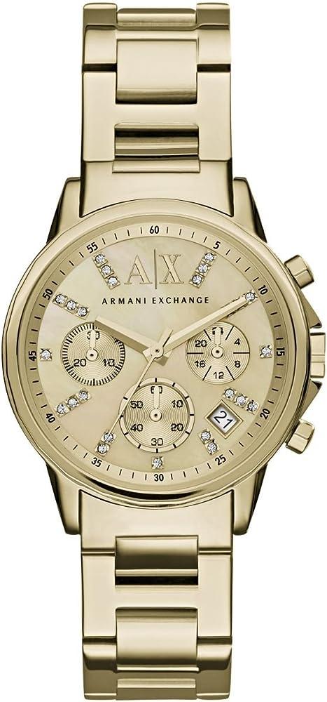 Armani exchange orologio donna oro giallo acciaio AX4327