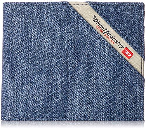Diesel Herren DENIMLINE HIRESH S - Wallet Geldbörse, Denim in Schwarz/Blau, Einheitsgröße