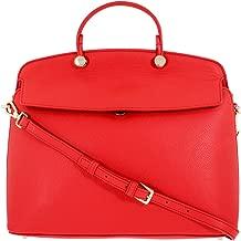 Furla My Piper Ladies Medium Red Kiss Leather Top Handle Crossbody Bag 1008813