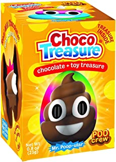 Poo Crew Emoji Choco Treasure Eggs with Toy Surprise!, Tray of 12 Eggs | 24 Collectible Toys | Fun For All Ages